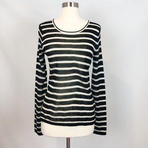 Maison Scotch Striped Lightweight Sweater 1